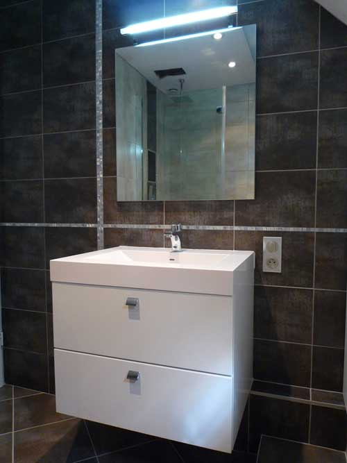 Plan toilette Solidsurface
